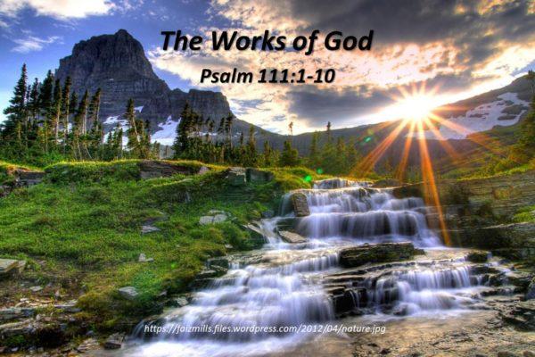 The Works of God Title Slide